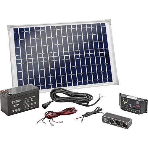 Solar Set 20W mit Akku Bausatz Solaranlage...