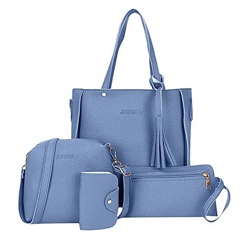 AIORNIY Taschen Damen,Handtasche Set Damen,4er Set...