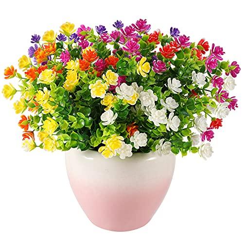 Künstliche Blumen,6 Bündel Sträucher Blumen...