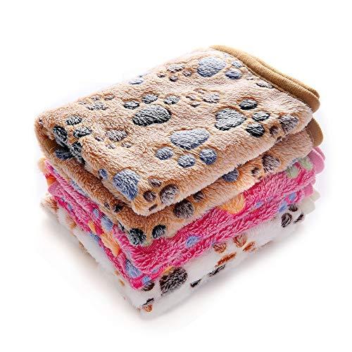 1 Pack 3 Decken Super Weich Fluffy Premium Fleece...