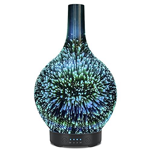 3D Glas Ultraschall ätherisches Öl Diffusor...