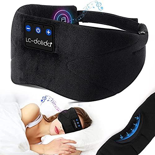 Schlafkopfhörer Bluetooth, LC-dolida Schlafmaske...