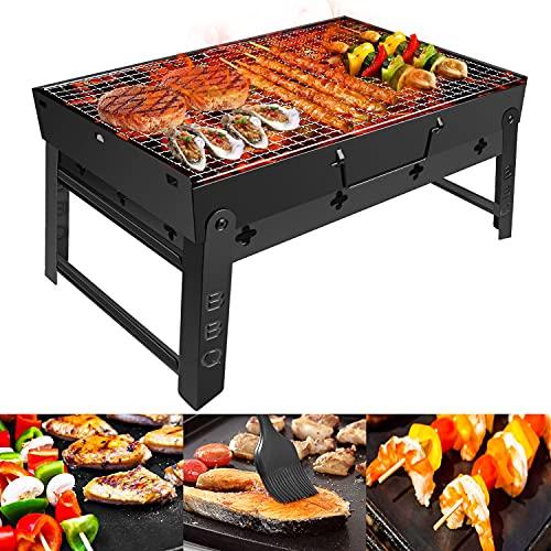 Holzkohlegrill GolWof Faltbare BBQ Grill...
