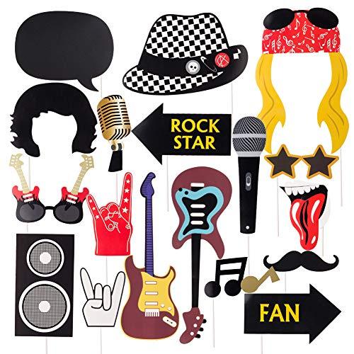 SUNBEAUTY 18er Set Rock and Roll Foto Requisiten...
