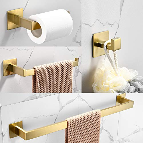 WOMAO Toilettenrollenhalter Gold Ohne Bohren...