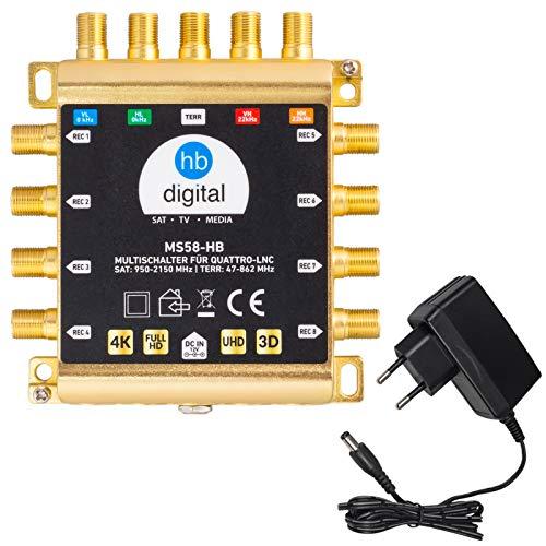 HB-DIGITAL DVB-S/S2 Multischalter 5/8 |...