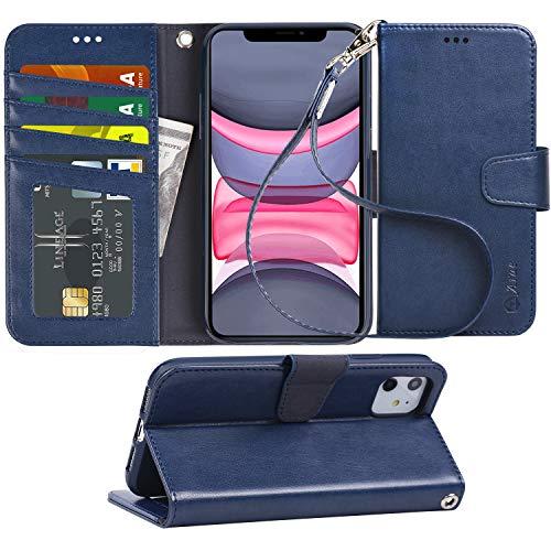 Arae Schutzhülle für iPhone 11, PU-Leder, mit...