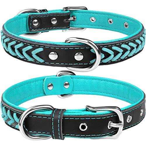 TagME Hundehalsband Leder für Mittlere...