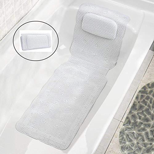JinSu Ganzkörper Badewannenmatte mit Kissen, 3D...