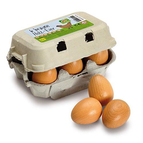 Erzi 17011 Eier, braun aus Holz im Karton,...