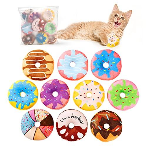 Toozey Katzenspielzeug Donuts mit Katzenminze,...