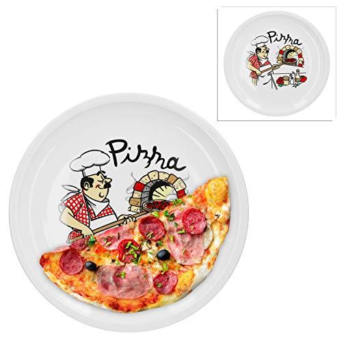 Van Well 2er Set Pizzateller groß Ø 29.5 cm mit...
