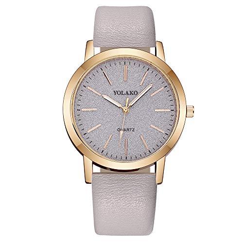 Women Mode Retro Uhren Analog Quarz Armbanduhr mit...
