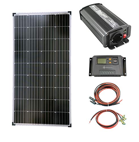 solartronics Komplettset 1x130 Watt Solarmodul 600...
