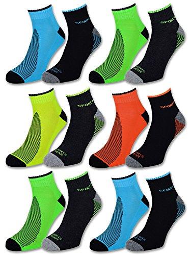 8 oder 12 Paar Sportsocken Herren Sneaker Socken...