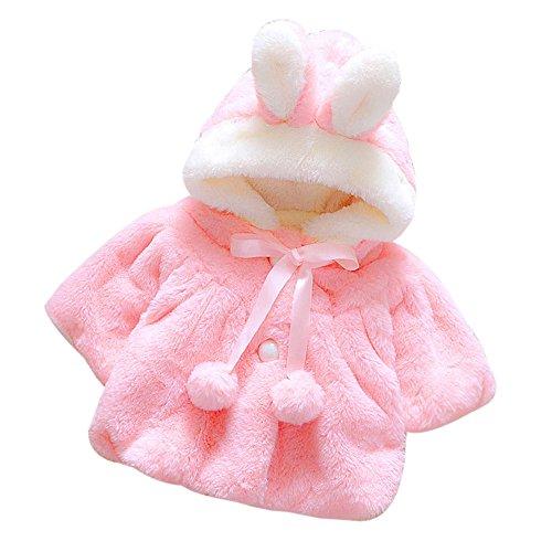 Baby Säuglings Mädchen Pelz Winter Warmer Mantel...