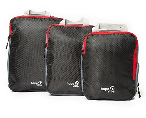 HOPEVILLE Packtaschen Set mit Kompression,...