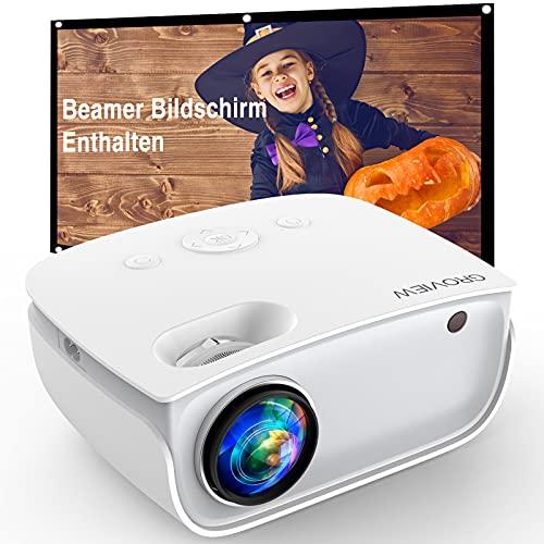 GROVIEW WiFi Beamer, 6500 Lumen Mini Video Beamer...