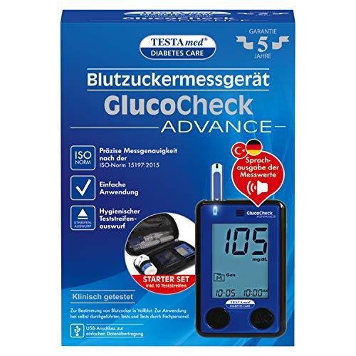 TESTAmed GlucoCheck ADVANCE Blutzuckermessgerät,...