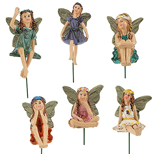 JelyArt 6 Stück Fairy Garden Miniatur Feen...