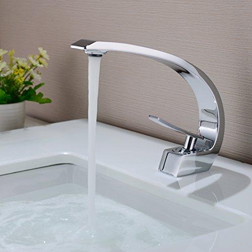BONADE Waschtischarmatur Wasserhahn Chrom Bad...