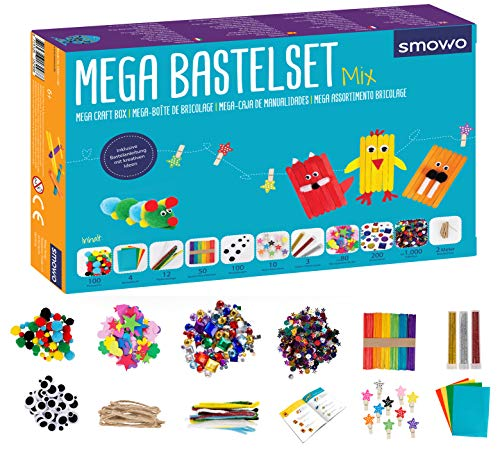 Smowo® Mega Bastelset Starterset - Bastelbox Mix...