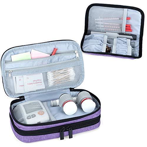 Luxja Insulin Diabetiker Tasche, Doppelschicht...