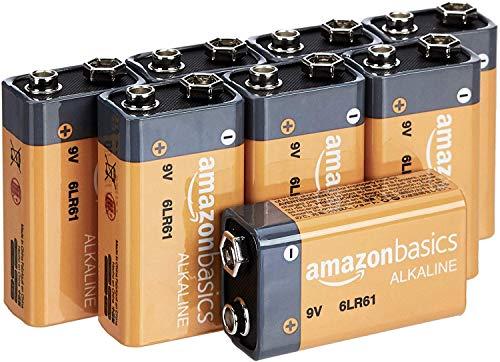 Amazon Basics Everyday Alkalibatterien, 9V, 8...