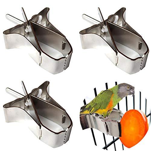 Papagei Obst Feeder, 3 Stück Edelstahl Papagei...