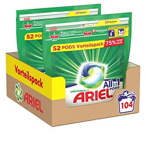 Ariel Waschmittel Pods All-in-1, 104...