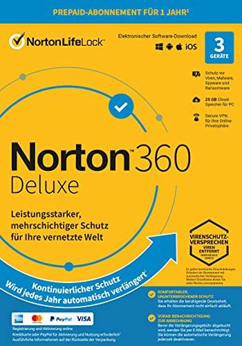 Norton 360 Deluxe 2021 | 3 Gerät|...