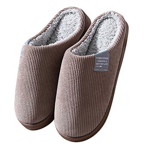 Uninevp Damen-Hausschuhe Winter Pantoffeln Memory...