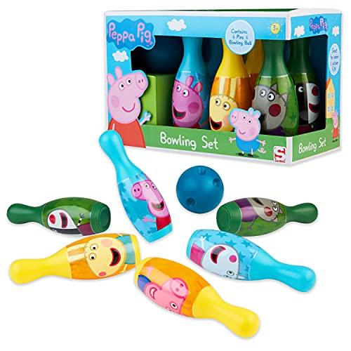 Peppa Pig Kegelspiel für Kinder, Bowling Set...