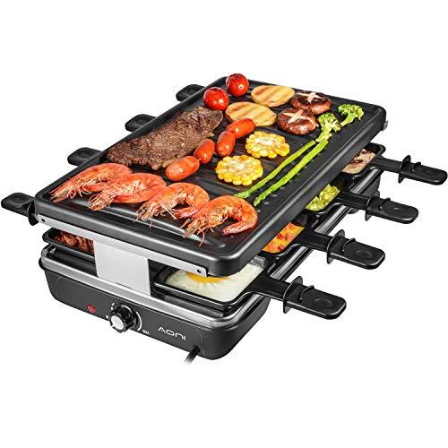 AONI Raclette grill Rauchfreier grill Elektrischer...