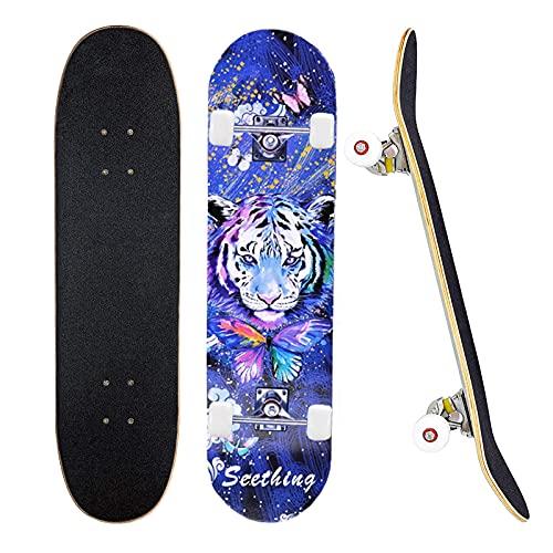 78,7 x 20,3 cm komplettes Skateboard für...