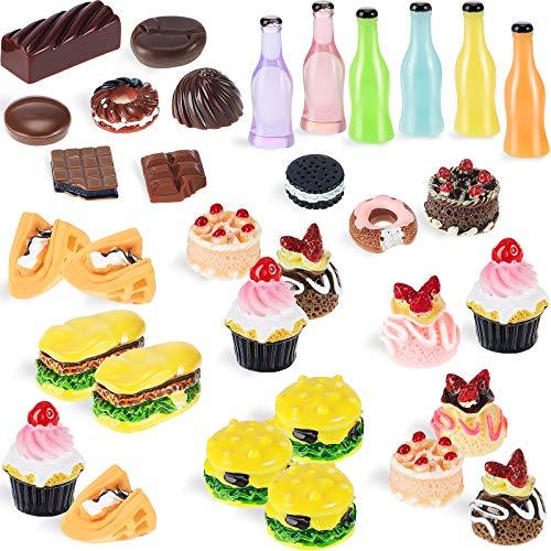 50 Stücke Miniatur Lebensmittel Mini Essen...