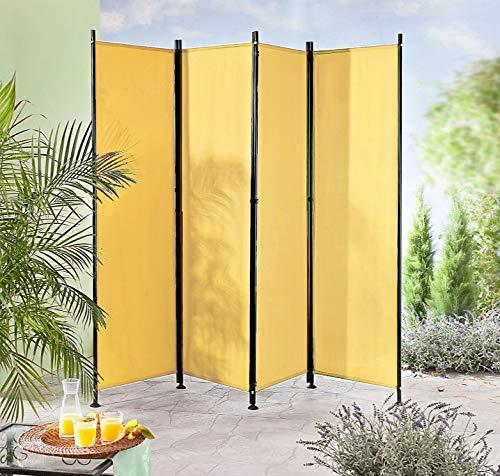 IMC Paravent 4-teilig gelb-orange Raumteiler...