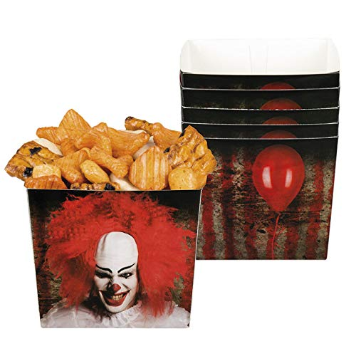 Boland 72354 - Snack-Schüsseln Horror-Clown, 6...