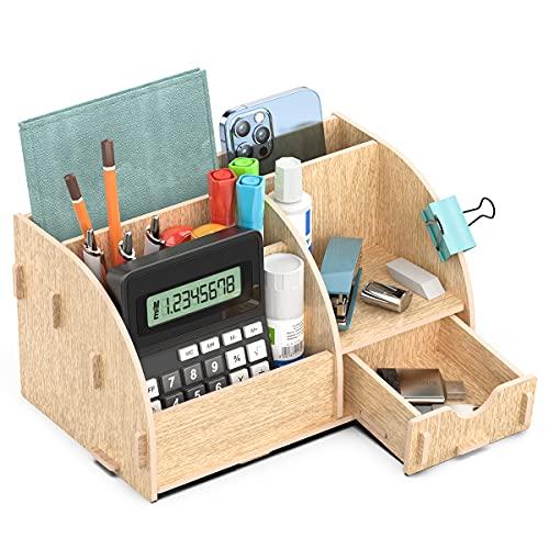 Lesfit Schreibtisch Organizer Holz, Büro Tisch...