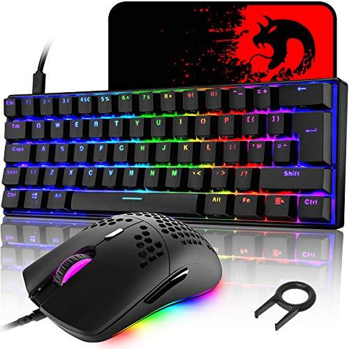 UK Layout 60% mechanische Gaming-Tastatur, blauer...