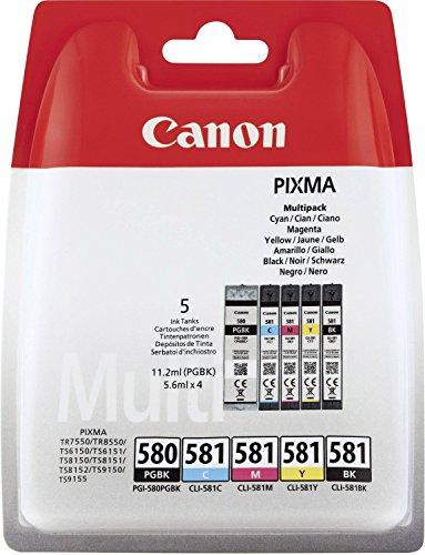 Canon Original PGI-580 PGBK, CLI-581 (C/M/Y/BK)...