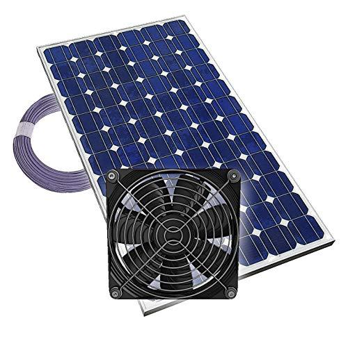 Gewächshauslüfter Solarlüfter Plug & Play...