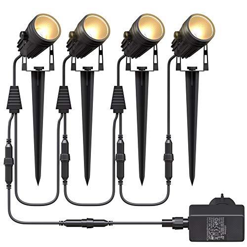 Aogled Gartenbeleuchtung LED,4x3W COB im Freien...