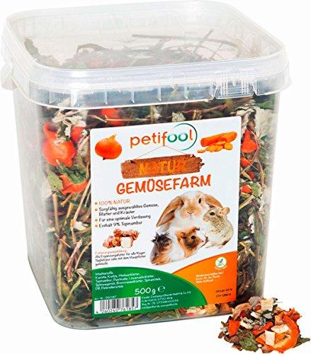 petifool Gemüsefarm 500g - Ergänzungsfutter für...