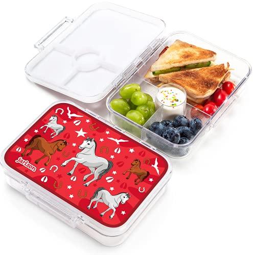 JARLSON® Brotdose für Kinder mit 4 Fächern -...