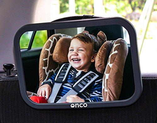 Onco 360° Baby Autospiegel - 100% Bruchsicherer...
