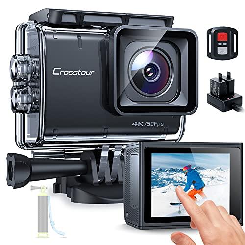 Action Cam Touchscreen, Crosstour CT9700 4K/50FPS...