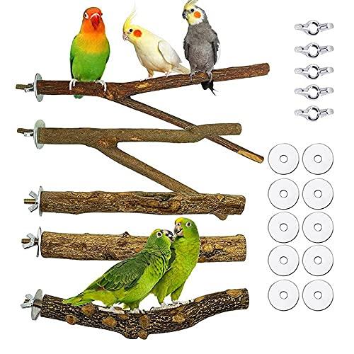 Soskakiist 5 Stück Natur Vögel Sitzstangen für...