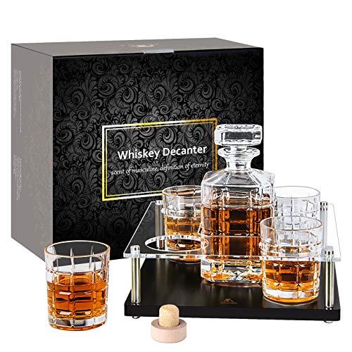 Whisky-Karaffe-Set-Glaskaraffe-whiskey-Gläser-Prob...