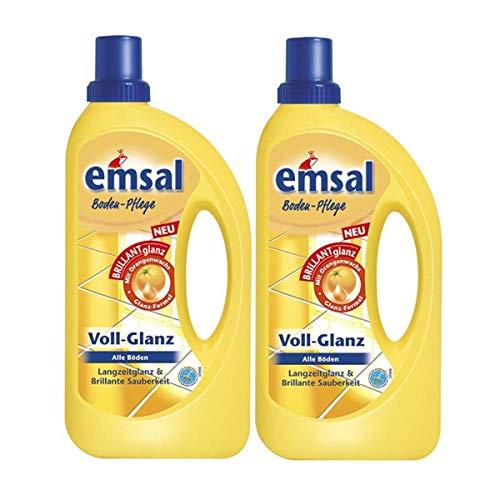 2x emsal Boden-Pflege Voll-Glanz 1 Liter,...